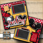 DISNEY MOUSE EARS 2 premade scrapbook pages layout paper piecing BY DIGISCRAP