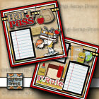 DISNEY BUS 2 premade scrapbooking pages layout for album printed paper DIGISCRAP