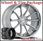 20 BLAQUE DIAMOND BD23 CONCAVE SILVER WHEELS AND TIRES FITS AUDI C5 A6