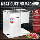 110V Meat Slicer Meat Cutting Machine Stainless Steel with 3mm Blade 250kg/h