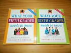 Lot of 2 WHAT YOUR FIFTH 5th SIXTH 6th GRADER NEEDS TO KNOW Books Fundamentals