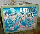 1965 Battle Kit Metal Lunch box By Thermos Brand Military TV Show Lunchbox
