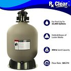 Rx Clear Radiant 24 Inch In Ground Swimming Pool Sand Filter w 6 Way Valve