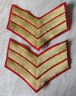 HOUSEHOLD CAVALRY FOOT & LIFE GUARDS SERGEANTS LARGE FULL DRESS RANK CHEVRONS