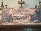 HUGE CANVAS PIECE- US 1870 $5 DOLLARS GOLD COIN NATIONAL BANK NOTE - CERTIFICATE