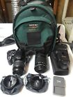 Canon EOS Digital Rebel XTI Camera EFS 18 55mm  55 250mm Lenses + Accessories
