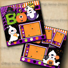 HALLOWEEN GHOST BOO 2 premade scrapbook pages layout paper piecing BY DIGISCRAP