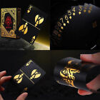 US STOCK 55pcs set Gold Plastic Poker Waterproof Magic Playing Cards Table Games