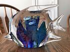 Hand Blown Art Glass 8 Angel Fish Sculpture Beautiful Colored Reef  Fish