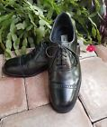 David Taylor Mens Black Leather Lace Up Oxford Cap Toe Shoes Made in India 9 M