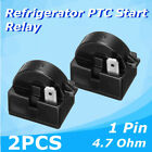 2x QP2-4.7 Start Relay Refrigerator PTC for 4.7Ohm 1Pin Vissani Danby Compressor