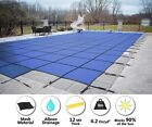 HPI Rectangle BLUE MESH In Ground Swimming Pool Safety Cover w 4x8 End Step