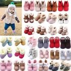 Newborn Baby Boys Girls Infant Snow Boots Crib Shoes Warm Booties Prewalker Shoe