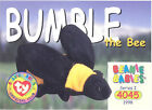 TY Beanie Babies BBOC Card - Series 1 Common - BUMBLE the Bee - NM/Mint