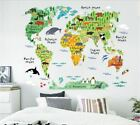 US STOCK Wall Sticker World Map Continent Kids Nursery Baby Childrens Room Deco
