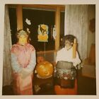 VINTAGE KODAK HALLOWEEN ASIAN GIRL PUMPKIN CAT VERNACULAR PHOTOGRAPHY PHOTO BOO