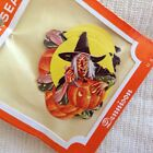Vintage Dennison Seals Halloween Witch Spooky Stickers Labels NOS