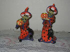 Witch Hazel Fitz & Floyd Candle Holder set (Short & Tall) w' boxes - Halloween