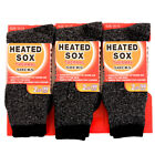 3 Pairs of Mens Thermal Socks Heated Insulated Winter Warm Boot Hike Pack Lot