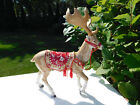 FITZ & FLOYD TOWN & COUNTRY CHRISTMAS HOLIDAY REINDEER FIGURINE CENTERPIECE