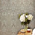 Wallpaper beige Taupe Gold metallic Wall coverings Rolls Textured Vintage Damask