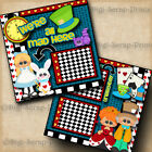 ALICE IN WONDERLAND disney 2 premade scrapbooking pages paper piecing DIGISCRAP