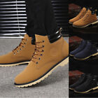 Men Shoes Ankle Boots Fur Lined Winter Autumn Warm Shoelace Martin Boots Shoes