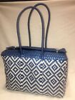 Eco Friendly Tote Handbag Hand Woven made by Mexican Artisans Recycled Plastic
