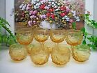 RARE   11  Anchor Hocking HONEY GOLD  Lido Milano ROLY POLY  5 oz Juice Glasses