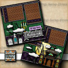 DISNEY HAUNTED MANSION RIDE 2 premade scrapbook pages layout printed DIGISCRAP