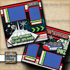 DISNEY SPACE MOUNTAIN RIDE 2 premade scrapbook pages layout printed DIGISCRAP
