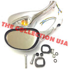 8mm Electric Rearview Mirror Gy6 50cc 150cc 250cc Scooter Moped Mirrors Silver