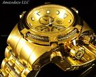 New Invicta Mens 52mm 18K Gold Plated Stainless Steel Bolt Zeus Chronograph Watc