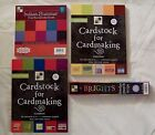 Lot of 4 Various DCWV Textured Cardstock Stacks