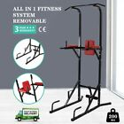 Fitness Power Tower Dip Station Pull Up Bar Push Sit Up Exercise Home Multi Gyms