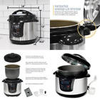 Programmable Electric Stainless Steel Pressure Instant Pot Cooker 8Qt Fast Cook