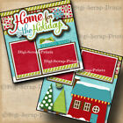 HOW THE GRINCH STOLE CHRISTMAS 2 premade scrapbook pages layout paper DIGISCRAP