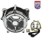 Clear Chrome Air Cleaner Intake Air Filter For Harley Dyna 93 17 Softail Touring