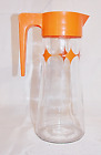 Anchor Hocking Mid Century Modern Atomic Juice Tang Pitcher Orange MCM Vintage