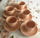 FIESTA FIESTAWARE BY HOMER LAUGHLIN 5 CUPS & SAUCERS RETIRED APRICOT 1998 - EXC.