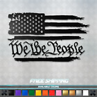 We The People Us Flag Vinyl Decal Sticker - America Usa Car Window Truck