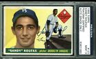 Dodgers Sandy Koufax Signed Card 1955 Topps RC #123 Auto Graded 9! PSA Slabbed