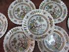 7 pc Vintage Royal Doulton Dresden Indian Tree 8 inch Luncheon Plates