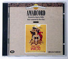 NINO ROTA FELLINIS AMARCORD ORIGINAL SOUNDTRACK CD DOLBY SURROUND 1991 CAM OOP