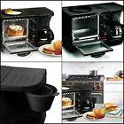 3 in 1 Multifunction Breakfast Oven Brewed Coffee Maker Toaster Eggs Black