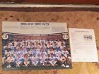 1986 New York Mets Team Photo Autographed JSA Certified
