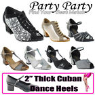 50 SHADES of 2 Thick Heel Dance Dress Shoes Collections I by Party Party