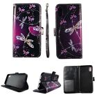 CASE FOR IPHONE X 10 WALLET COVER FOLIO LEATHER ID CARD HOLDER SPARKLY BUTTERFLY