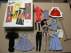 Vintage 1961 5 BARBIE MATTEL PONYTAIL 850 Carrying Case Clothes and Stand