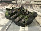 Youth Boys KEEN Waterproof Shoes Outdoor Sandals Hiking Green Camo Size 4